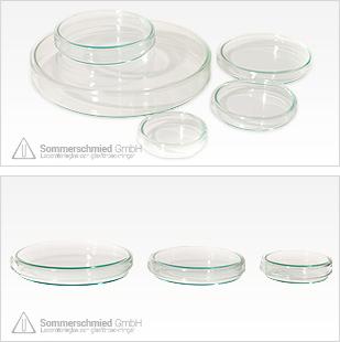Petriskålar, högkvalitativt AR-glas