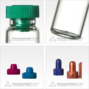 Provrör för aromatiska ämnen, vialer, transparent glas, brunt glas, individuella storlekar, är parfymprover